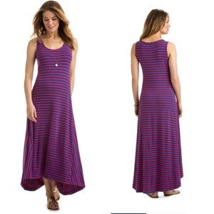 Vineyard vines striped stretch hi low dress XL
